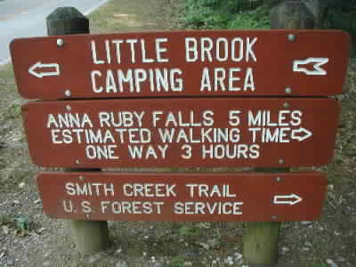 Smith Creek sign